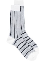 Agi And Sam Striped Socks Black