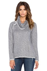 Bobi French Terry Cowl Neck Sweatshirt Gray