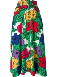 Moschino Vintage Flower Print Skirt Multicolour