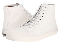 Frye Greene Tall Lace White Matte Leather Men's Lace Up Casual Shoes