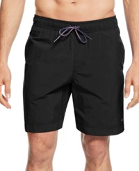 Tommy Hilfiger Big And Tall Tommy Swim Trunks Tommy Black