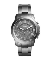 Fossil Grant Sport Stainless Steel Chronograph Watch Gunmetal
