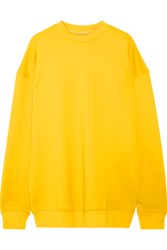 Marques' Almeida Oversized Cotton Blend Jersey Sweatshirt Yellow