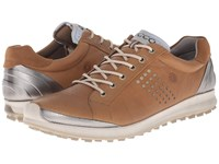 Ecco Biom Hybrid 2 Camel Oyster Men's Golf Shoes Brown