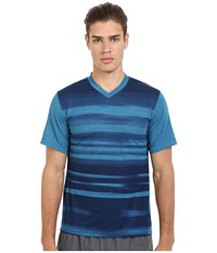 Brooks Fly By Short Sleeve Top Heather River Blur Men's Short Sleeve Pullover Blue
