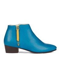 Nine To Five Low Cut Bootie Schilling Electric Blue