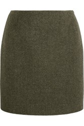Tom Ford Cashmere And Wool Blend Mini Skirt Army Green