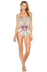 Camilla Scoop Back One Piece Red
