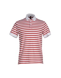 Sun 68 Topwear Polo Shirts Men Red