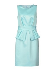 Amaya Arzuaga 3 4 Length Dresses Sky Blue
