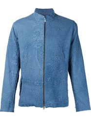 By Walid Floral Zipped Jacket Blue
