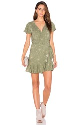 Auguste Frill Wrap Dress Green
