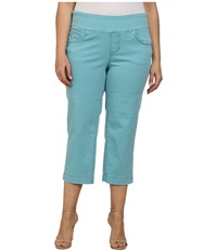 Jag Jeans Plus Caley Pull On Crop Classic Fit In Surf Surf Women's Clothing Blue