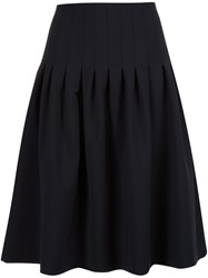 Adam By Adam Lippes Pleated Knee Length Skirt Black
