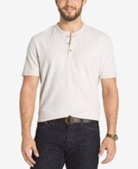 G.H. Bass And Co. Big And Tall Short Sleeve Henley T Shirt Rainy Day