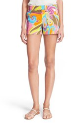 Women's Trina Turk 'Corbin' Print Stretch Cotton Shorts