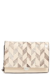 Michael Kors Small Yasmeen Chevron Leather Clutch
