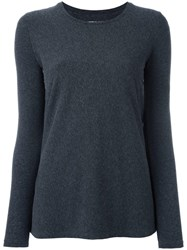 Majestic Filatures Round Neck Flared Jumper Grey