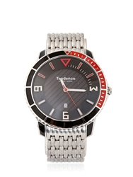 Tendence Slim Sport 3H Watch Silver Red