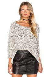 Michael Stars Boatneck Dolman Sweater Gray