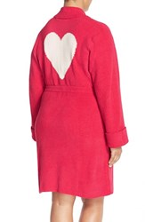 Plus Size Women's Betsey Johnson Heart Back Sweater Robe Red Hot