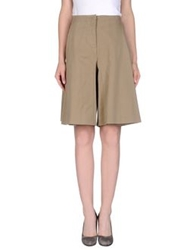 Cacharel Knee Length Skirts Khaki