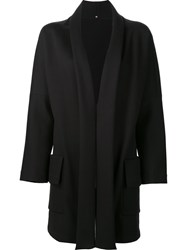 Peter Cohen Open Front Coat Black