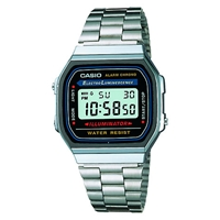 Casio A168wa 1Yes Core Classic Digital Stainless Steel Watch Silver