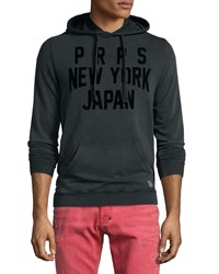 Prps Hooded Logo Long Sleeve Sweatshirt Black