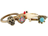Betsey Johnson Turquoise Caicos Set Of 5 Rings Multi Ring