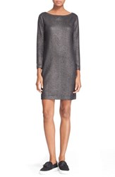 Women's Majestic Metallic Cotton And Cashmere Tunic Dress
