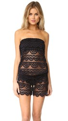 Pilyq Marisa Lace Romper Midnight