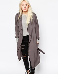 Religion Devoted Trench Coat Grey