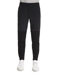 Theory Dryden Two Tone Jogger Pants Black Women's
