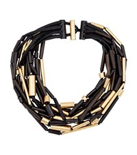 Eskandar Multi Strand Ebony Bead Necklace Female Black