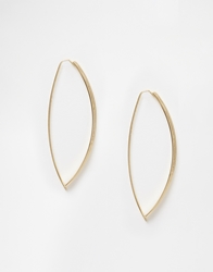 Paper Dolls Oval Hoop Earrings Gold