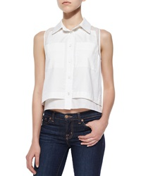 Parker Norway Sleeveless Combo Blouse White