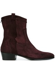 Louis Leeman Ankle Boots Pink Purple