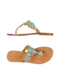 Mystique Footwear Thong Sandals Women Gold