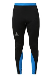 Odlo Fury Tights Black Directoire Blue