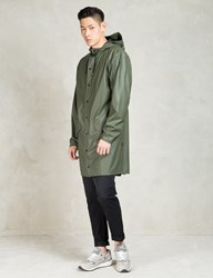 Rains Green Long Jacket