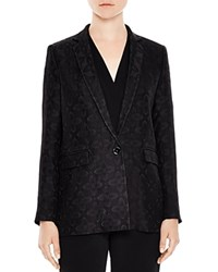 Sandro Holly Textured Blazer Black