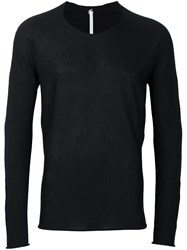 Label Under Construction Bent Sleeve Jumper Black