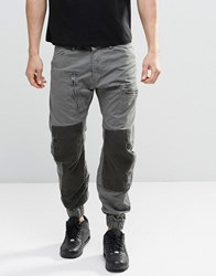 G Star Powel 3D Tapered Cargo Pants Cuffed Contrast Panels Orphus Green