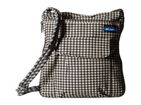 Kavu Sidewinder Houndstooth Cross Body Handbags Black