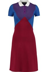 Ostwald Helgason Color Block Cotton Jersey Dress Red