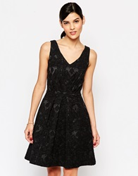 Closet Skater Dress With Cut Out Back Black
