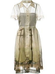 Dosa 'Watts Towers' Shirt Dress Nude And Neutrals