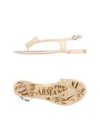 Armani Collezioni Footwear Thong Sandals Women Ivory