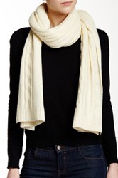 J.Crew Factory Wool Blend Cable Knit Scarf Beige